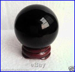 Natural Black Obsidian Sphere Large Crystal Ball Healing 40MM-200MM + STAND