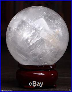 Natural Clear Quartz Crystal Sphere Ball Healing Gemstone 40-200mm + Free Stand