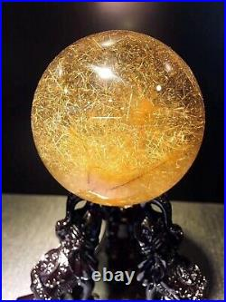Natural Gold Rutile Ball Crystal Sphere For Healing 66mm