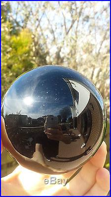Natural Mexican Obsidian Hand Carved & Polished Crystal Sphere Ball 874g