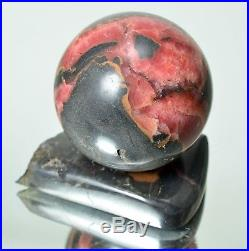 Natural RHODOCHROSITE Polished sphere 58 mm with stand ball #10560 KAZAKHSTAN