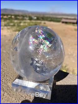 Natural Rainbow Clear Quartz Crystal Sphere Ball Stunning 70m Stunning