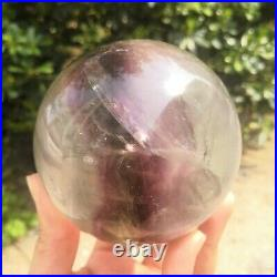 Natural Rainbow Fluorite Quartz Magic Crystal Sphere Ball Healing With Stand #1