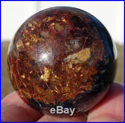 PIETERSITE Crystal Sphere Blue & Red PETERSITE Ball Hard to Find Rare Stone