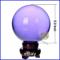 Purple Crystal Ball Magic Healing Meditate Sphere Photography Large 150mm+Stand