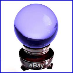 Purple (Lavender) Crystal Ball 130mm 5 Include Wooden Stand