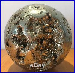 Pyrite Large Crystal Ball Sphere Fools Gold High Sparkle 7cm 690g