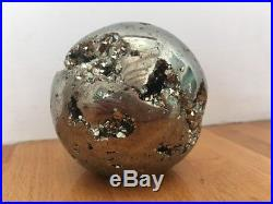 Pyrite Large Crystal Ball Sphere Fools Gold Peru 895g