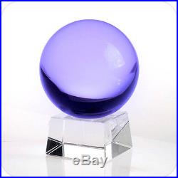 Quartz Crystal Ball Sphere Purple 130mm 5 Include Crystal Stand and Gift Box
