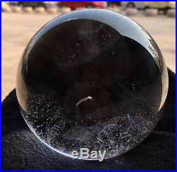 Rainbow 91mm NATURAL CLEAR QUARTZ CRYSTAL SPHERE BALL HEALING GEMSTONE + stand