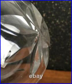 Rare Large 112 mm Glass Hallow Prism Sphere Ball Crystal Rosettes Chandelier