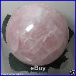 Rose Quartz crystal ball 77mm sphere Madagascar Great for Luck Happiness Love