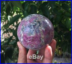 Ruby in Zoisite Sphere/Ball Large 85mm, 1015 grams Crystal/Mineral + Free Stand