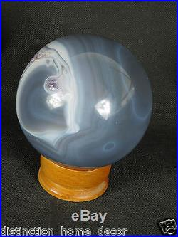 SPH3 Amethyst & Agate Crystal Sphere Ball Brazil Geode Great Gift 4 Ornament