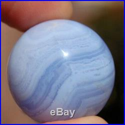 SPHEREFACTOR Gorgeous Pocket / Purse Size BLUE LACE AGATE Crystal Ball Sphere