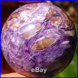 SPHEREFACTOR Luscious Russian CHAROITE with TINAKSITE Crystals Ball Sphere