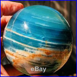 SPHEREFACTOR Spectacular Brilliant Argentinian BLUE CALCITE Crystal Ball Sphere