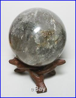 Shamanic Dream Quartz with Lodolite Chlorite Inclusions 3.6in sphere ball pa247