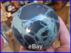 Spider web obsidian crystal sphere or ball carved polished root chakra harmony