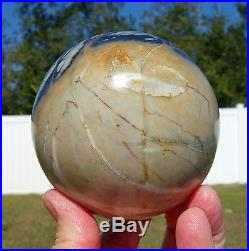 Stunning PICASSO JASPER Crystal Sphere Ball Beautiful Natural Color Marble Stone