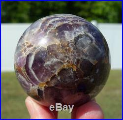 Super 7 Quartz Crystal Sphere Ball with the Seven Minerals Amethyst Citrine Smoky