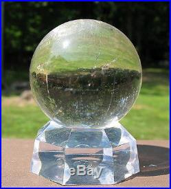 Super Clear Lemurian Quartz Sphere / Crystal Ball with Stand
