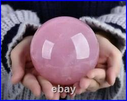 Super Large Over 2.6LB Weight Natural Rose Quartz Sphere Beautiful Crystal Ball