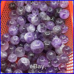 TOP-1KG 11PCS 30-45mm Natural Amethyst Crystal Sphere Polished Ball Wholesale