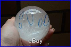 Tibet 2.8Crystal Quartz Sphere Ball With 6 Visible Moving ENHYDRO Bubbles