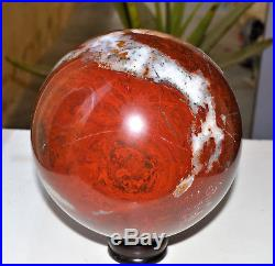 Very Large 150MM Giant Natural Red Jasper Crystal Healing Aura Stone Sphere Ball