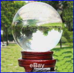 Very clear 40-200mm Round Glass Crystal ball Sphere Buyers select the size