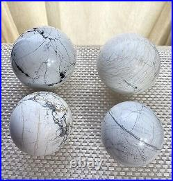Wholesale Lot 4 Pcs Natural Howlite Sphere Crystal Ball Nice Quality Healing