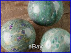 XXXL RUBY FUCHSITE Crystal Ball with Stand Polished Stone Sphere Healing E0955
