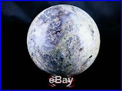 XXl 81mm Natural Pietersite Crystal Sphere Ball Orb Mineral Specimen Free Stand